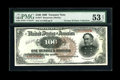 Large Size:Treasury Notes, Fr. 377 $100 1890 Treasury Note PMG About Uncirculated 53 NET....