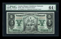 Canadian Currency: , Montreal, PQ- Banque Canadienne Nationale $5 Feb. 1, 1925 Ch. #85-10-02. ...