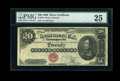 Large Size:Silver Certificates, Fr. 312 $20 1880 Silver Certificate PMG Very Fine 25....