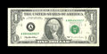 Error Notes:Skewed Reverse Printing, Fr. 1921-A $1 1995 Federal Reserve Note. About Uncirculated.. ...
