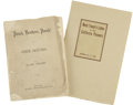 Books:First Editions, Mark Twain. Two Pieces by Mark Twain, including:... (Total: 2Items)