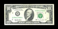 Error Notes:Ink Smears, Fr. 2031-B $10 1995 Federal Reserve Note. Very Fine-ExtremelyFine.. ...