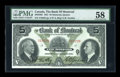 Canadian Currency: , Montreal, PQ- The Bank of Montreal $5 Jan. 2, 1931 Ch. # 505-58-02....