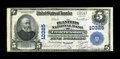 National Bank Notes:Virginia, Fredericksburg, VA - $5 1902 Plain Back Fr. 603 The Planters NB Ch.# 10325. ...