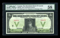 Canadian Currency: , Montreal, PQ- The Merchants Bank of Canada $5 Nov. 1, 1919 Ch. #460-22-02. ...