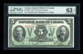 Canadian Currency: , Toronto, ON- Imperial Bank of Canada $5 Nov. 1, 1923 Ch. #375-18-02. ...