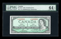Canadian Currency: , BC-37cA $1 V/V Block Replacement 1954. ...