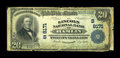 National Bank Notes:West Virginia, Hamlin, WV - $20 1902 Plain Back Fr. 651 The Lincoln NB Ch. #(S)8171. ...