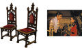 Movie/TV Memorabilia:Props, Gone With The Wind Screen-Used Side Chairs. A vestige of theopulence of the Old South, as magnificently recreated i... (Total:1 Item)