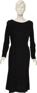 "Movie/TV Memorabilia:Costumes, Angela Lansbury's Screen-Worn Dress from Harlow. A blackvelvet dress worn by Angela Lansbury in her role as ""Mama J...(Total: 1 Item)"