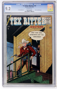 Tex Ritter Western #29 (Charlton, 1955) CGC NM- 9.2 Off-white pages
