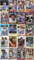 Autographs:Sports Cards, 1980s Mike Schmidt Signed Trading Cards Group Lot of 17. The manwho was the heart and soul of the Philadelphia Phillies fo...
