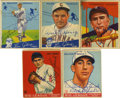 Autographs:Sports Cards, 1933-36 Signed Trading Cards Group Lot of 17. From a tremendous erain card collecting we present this fine group lot of 17...
