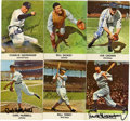 Autographs:Sports Cards, Golden Press Signed Hall of Famers Cards Group Lot of 6. A halfdozen of Cooperstown's elect have placed high-quality signa...