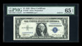 Small Size:Silver Certificates, Fr. 1607 $1 1935 Silver Certificate. Solid Six Serial Number. PMG Gem Uncirculated 65 EPQ.. ...
