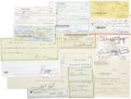 Movie/TV Memorabilia:Autographs and Signed Items, Assortment of 18 Celebrity Signed Checks. Assorted personal andbusiness checks signed by George Clooney, Goldie Hawn, Jonat...(Total: 1 Item)