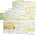 Movie/TV Memorabilia:Autographs and Signed Items, Assortment of 23 Celebrity Signed Checks. Assorted personal andbusiness checks signed by David Janssen, Jamie Lee Curtis, T...(Total: 1 Item)