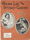Music Memorabilia:Autographs and Signed Items, Wilma and Stoney Lee Cooper Signed Song Folio. A vintage 48-pagesong folio signed on the front cover by Grand Ole Opry star...(Total: 1 Item)