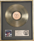 Music Memorabilia:Awards, Isley Brothers Harvest for the World RIAA Gold Album Award.An RIAA award presented to Rudolph Isley to commemor... (Total: 1Item)