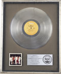 Music Memorabilia:Awards, Isley Brothers Showdown RIAA Platinum Album Award. Presentedto Rudolph Isley to commemorate the sale of more th... (Total: 1Item)