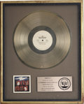 Music Memorabilia:Awards, Isley Brothers Winner Takes All RIAA Gold Album Award. AnRIAA award presented to Rudolph Isley to commemorate t... (Total: 1Item)