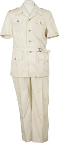 Music Memorabilia:Costumes, Roy Acuff Safari Suit. A cotton-blend safari jacket with matching pants, owned and worn by the Country music star. In Excell... (Total: 1 Item)
