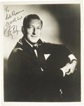 "Movie/TV Memorabilia:Autographs and Signed Items, Ray Bolger Signed Photo and Personal Stationery. A b&w 8"" x 10"" photo of the Wizard of Oz actor, inscribed and signed by... (Total: 1 Item)"