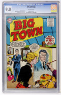 Golden Age (1938-1955):Crime, Big Town #35 (DC, 1955) CGC VF/NM 9.0 Off-white pages....