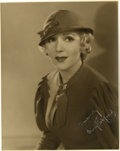 """Movie/TV Memorabilia:Autographs and Signed Items, Mary Pickford Autographed Photo. A b&w 8"""" x 10"""" photo of the legendary actress, inscribed and signed by her in white ink. In... (Total: 1 Item)"""