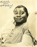 "Movie/TV Memorabilia:Photos, Hattie McDaniel Autographed Photo. A b&w 8"" x 10"" photo ofMcDaniel, inscribed ""Best Wishes from Hattie McDaniel '46"" byher... (Total: 1 Item)"
