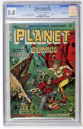 Golden Age (1938-1955):Science Fiction, Planet Comics #73 Canadian edition (Fiction House, 1953) CGC VG/FN5.0 Cream to off-white pages....