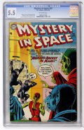 Golden Age (1938-1955):Science Fiction, Mystery in Space #23 (DC, 1955) CGC FN- 5.5 Off-white pages....