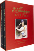 """Autographs:Others, Joe DiMaggio Signed """"The DiMaggio Albums"""" Hardcover Book Set. Thisattractive two-volume edition detailing the biographic n..."""