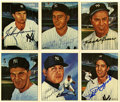 Autographs:Sports Cards, New York Yankees All-Time Greats Signed Trading Cards Group Lot of18. Created by the TCMA card company in 1983, this group...