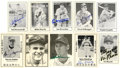 Autographs:Sports Cards, Baseball Stars Signed Trading Cards, Group Lot of 204. Numberingover 200 in count, this collection of black and white trad...