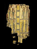 Antiques:Antiquities, Polychromed Cartonnage Fragment...