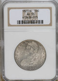 Bust Half Dollars: , 1827/6 50C AU55 NGC. NGC Census: (22/80). PCGS Population (13/41).Numismedia Wsl. Price for NGC/PCGS coin in AU55: $375. ...