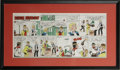 Original Comic Art:Miscellaneous, Stan Lynde - Signed Rick O'Shay Sunday Comic Strip Color Guidedated 6-10-62 (Chicago Tribune, 1962). ...