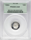 Proof Roosevelt Dimes: , 1964 10C PR69 Deep Cameo PCGS. PCGS Population (258/2). NGC Census:(134/0). Numismedia Wsl. Price: $100. (#95239)...