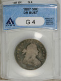 Early Half Dollars: , 1807 50C Draped Bust G4 ANACS. NGC Census: (12/1774). PCGSPopulation (1/778). Mintage: 301,076. Numismedia Wsl. Price for ...