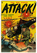 Golden Age (1938-1955):War, Attack #1 (Youthful Magazines, 1952) Condition: FN....