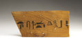 Antiques:Antiquities, Wooden Sarcophagus Fragment...