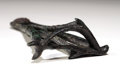 Antiques:Antiquities, Egyptian Bronze Dolphin Brand...