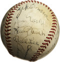Autographs:Sports Cards, 1940 Chicago Cubs Team Signed Baseball. Tremendous collection ofvintage Chicago Cubs signatures comes to us here courtesy ...