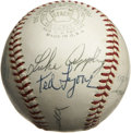 Autographs:Baseballs, Chicago White Sox Old Timers Multi-Signed Baseball. Fourteenall-time greats from the Chicago White Sox organization have h...