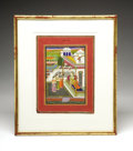 Antiques:Folk Art, Ragamala Watercolor Painting...