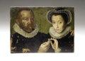 Antiques:Folk Art, Engraving Plate Painting...