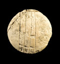 Antiques:Antiquities, Round Cuneiform Tablet...