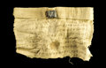 Books:Manuscripts, Bactrian Document on Linen with Bulla...