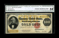 Large Size:Gold Certificates, Fr. 1215 $100 1922 Gold Certificate CGA Choice Uncirculated 64....